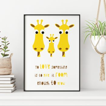 stripey-cats-to-love-something-quote-giraffe-family-print