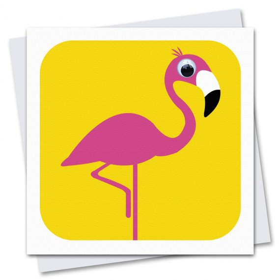 018-Florence-Flamingo-yellow-Childrens-Birthday-Card-by-Stripey-Cats