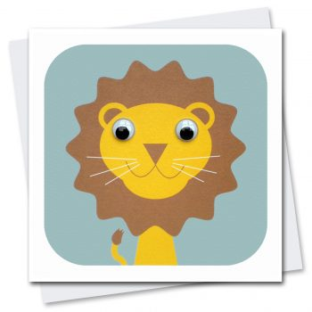 031-Livingston-Lion-Children's-Birthday-Card-Stripey-Cats