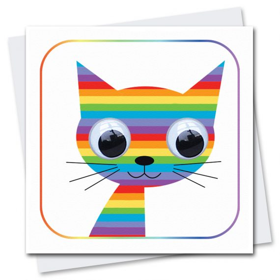 062-Rainbow-Cat-Children's-Birthday-Card-Stripey-Cats
