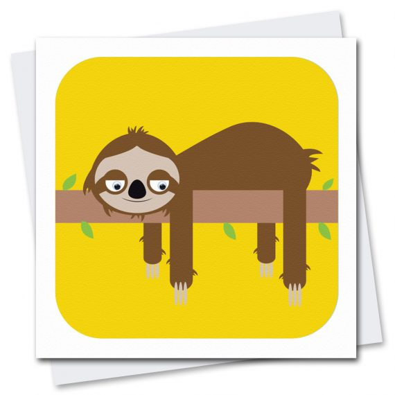 090-Sylvan-Sloth-Children's-Birthday-Card-Stripey-Cats