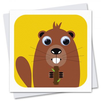 091-Benny-beaver-Children's-Birthday-Card-by-Stripey-Cats