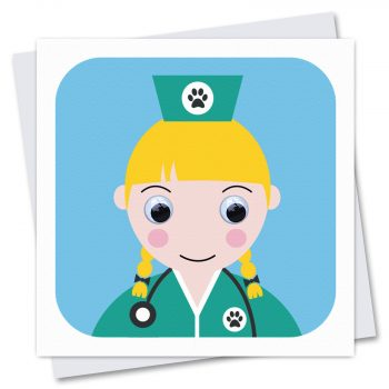 716-Vera-Vet-Nurse-Childrens-Birthday-Card-by-Stripey-Cats
