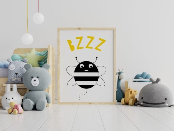 Busy-Bee-Print-for-Kids-room