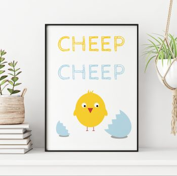 stripey-cats-new-baby-chick-nursery-print