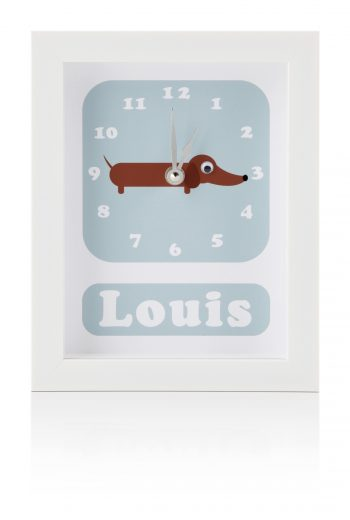 stripey-cats-personalised-childrens-dog-clocl