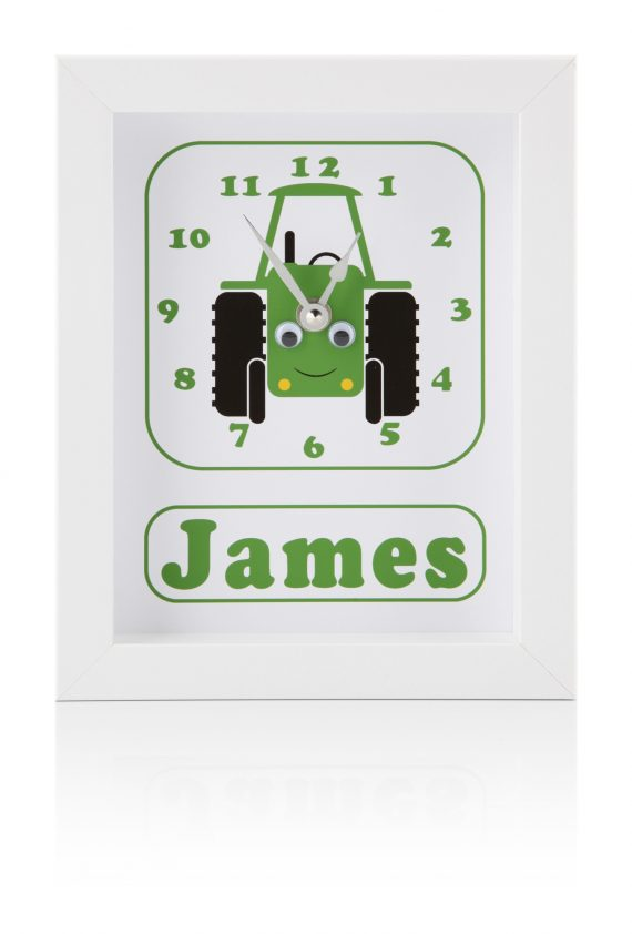 Personalised-Tractor-Children's-Clock