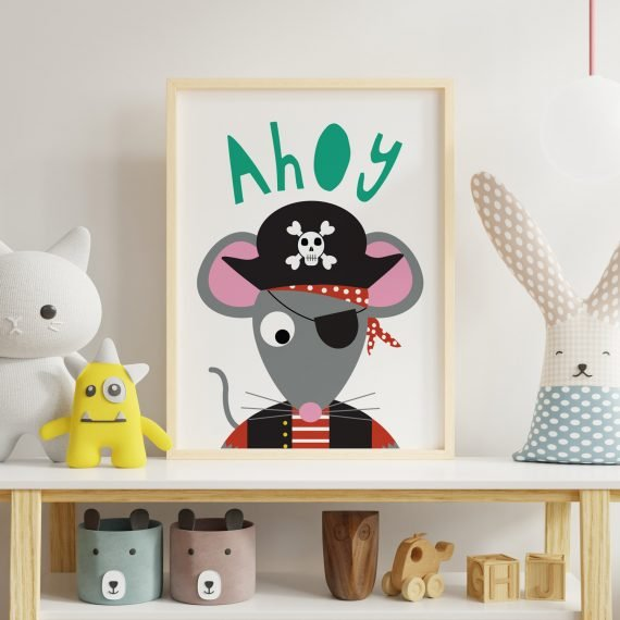 Pirate-Mouse-Print-for-Child's-room