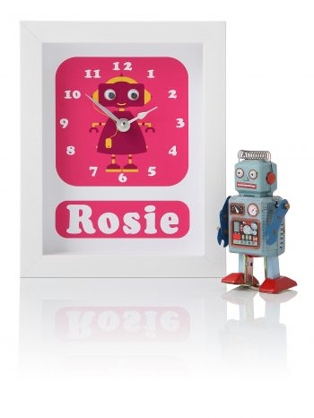 stripey-cats-personalised-robot-clock-pink