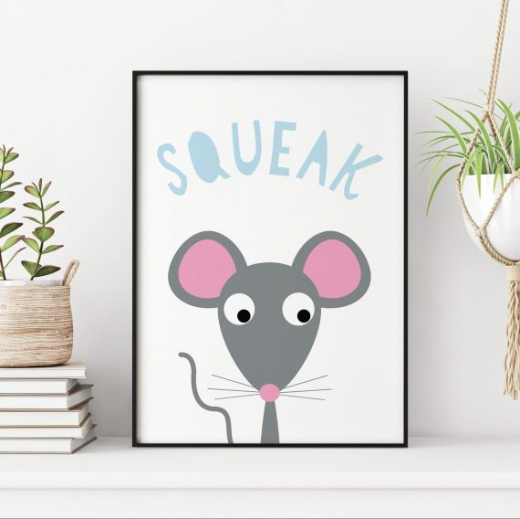 stripey-cats-mouse-nursery-print