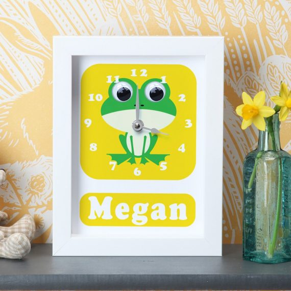 Stripey-Cats-Personalised-Frog-Clock