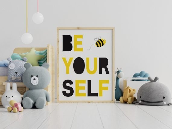 Be-Yourself-Large-Bee-print-by-Stripey-Cats