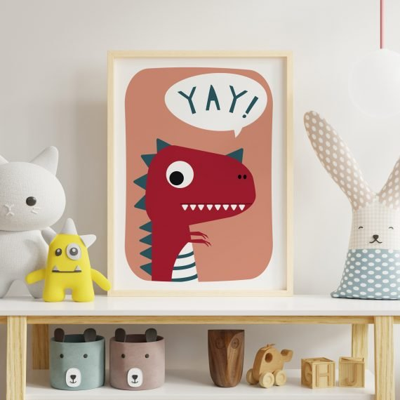 Dinosaur-Print-For-Childs-room-Yey