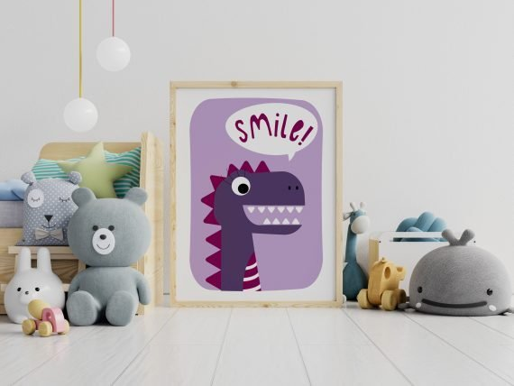 Dinosaur-Print-Smile-Childs-room