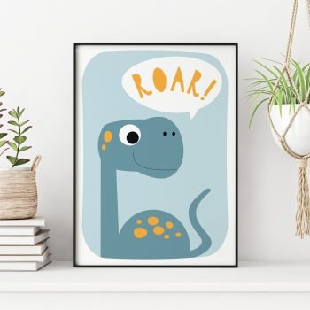 Dinosaur-Roar-Print-by-Stripey-Cats