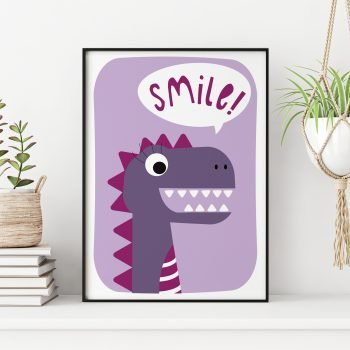 Dinosaur-Smile-Print-by-Stripey-Cats