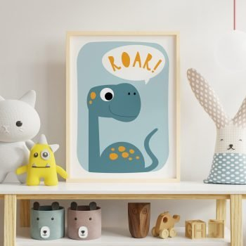 dinosaur art for childrens room