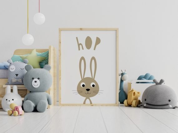 Hop-Bunny-Rabbit-print-in-Childs-Room