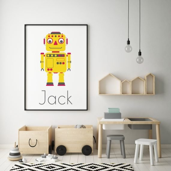 Personalised-Robot-Print-by-Stripey-Cats