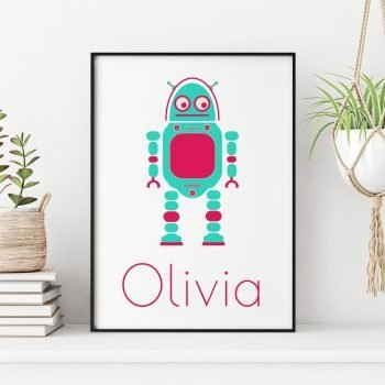 Personalised-Robot-Childrens-Print-by-Stripey-Cats