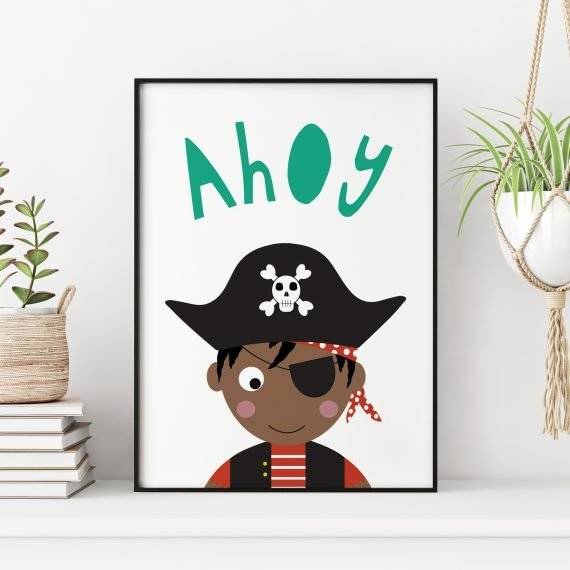 Pirate-Childrens-Bedroom-Art-Print-black