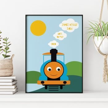 stripey-cats-personalised-new-baby-train-print