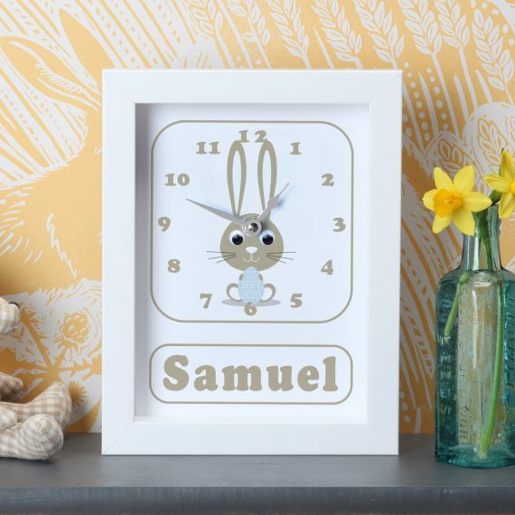 Personalised-New-Baby-Bunny-Clock-Blue