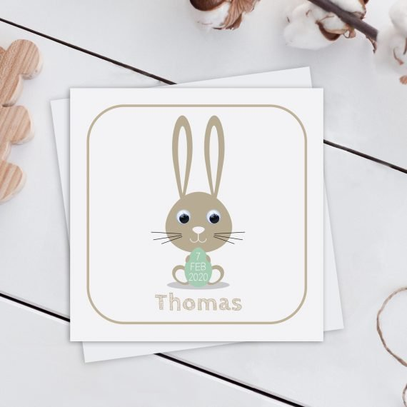 Personalised-New-Baby-Card-Bunny-Green