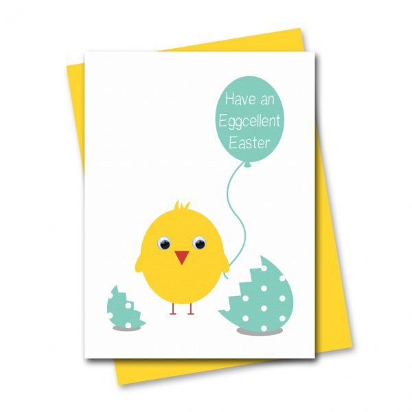 stripey-cats-eggcellent-easter-chick-card