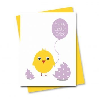 stripey-cats-happy-easter-chick-card