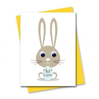 stripey-cats-babies-1st-easter-easter-bunny-card