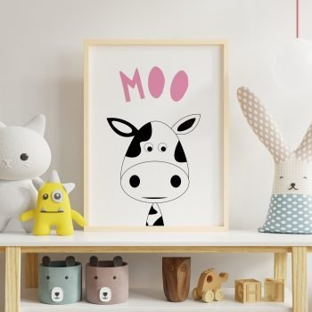 Moo-Cow-Farmyard-Print-for-Nursery