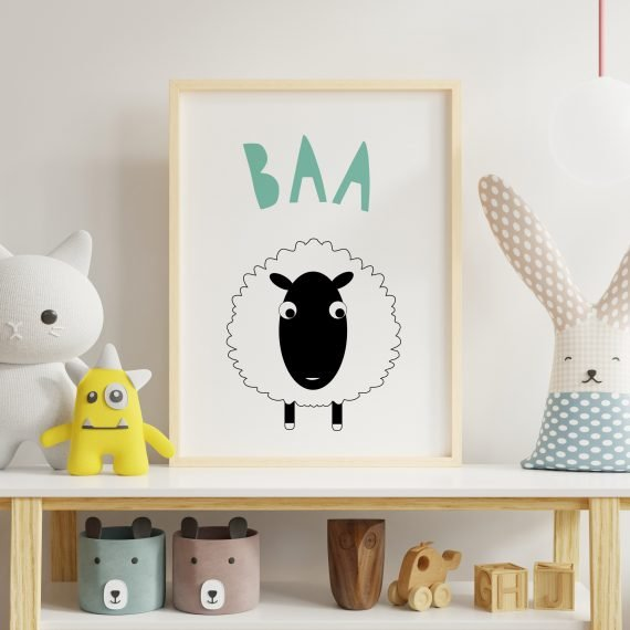 Sheep-Baa-Farmyard-Print-by-Stripey-Cats