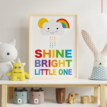 Shine-Bright-Little-one-Rainbow-print