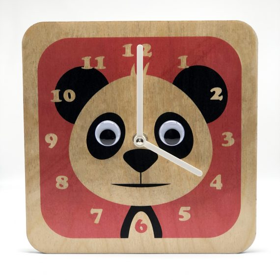 Wobbly-eyed-Wooden-Panda-Clock-By-Stripey-Cats