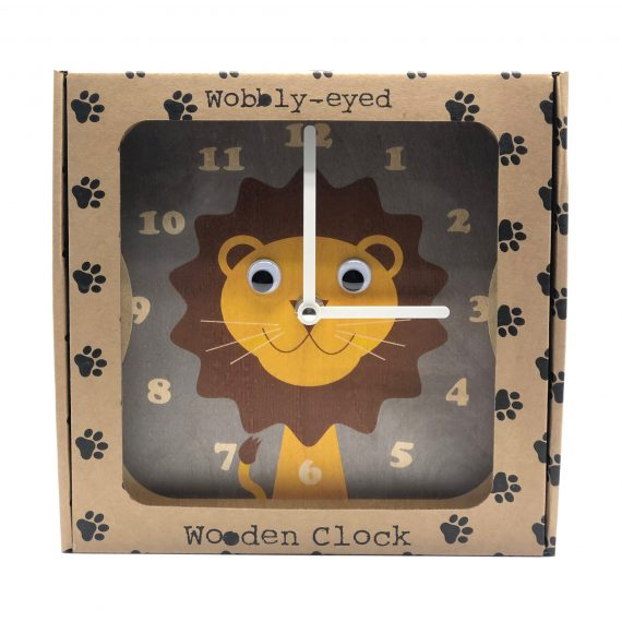 Wooden-Lion-Clock-in-Box-