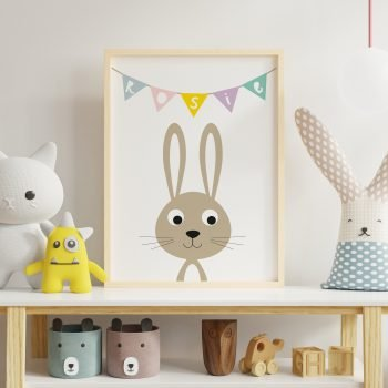 Personalised-Bunny-Print-For-Childrens-room
